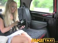 FakeTaxi Super hot blonde tourist with big tits pays her way