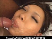 Mimi does a great job sucking on a hard dick