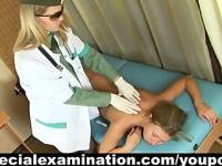 Medical check-up for sexy blonde girl
