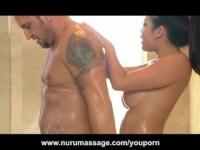 Asian Nuru Massage Girl With Huge Tits Fucked Hard
