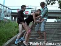 Teen Girl Street Sex Threesome PART 1