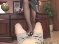 stockings footjob cumshot video