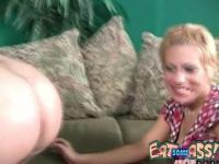 Ass Licking Blonde Amber Wild Munches Man Butt